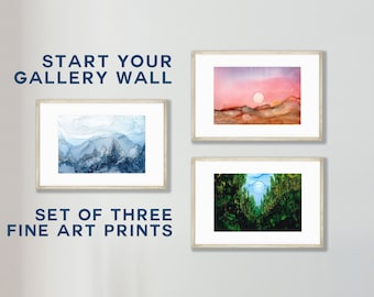 The Jedi Collection: Star Wars Fine Art Print Set of Three in multiple sizes