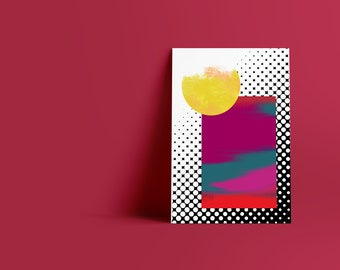 Dots II: Abstract Minimalist Art Print available in multiple sizes