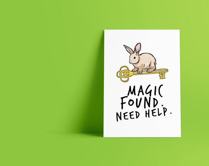 The Magicians SyFy Messenger Rabbit Magic Found Minimalist Pop Culture Art Print