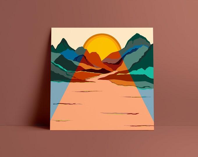 Ambling Alp Square Fine Art Print