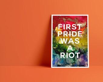 Billy Art Print: First Pride Was A Riot Pride Celebration