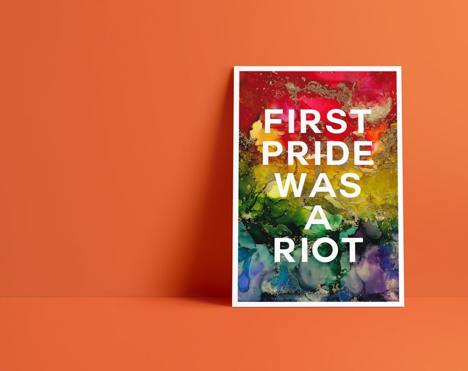 Billy Art Print: First Pride Was A Riot Pride Celebration