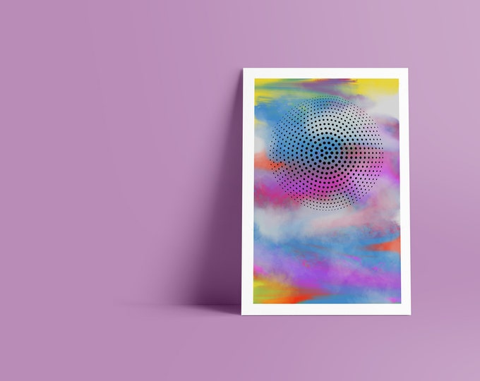 Dots III: Abstract Minimalist Art Print available in multiple sizes