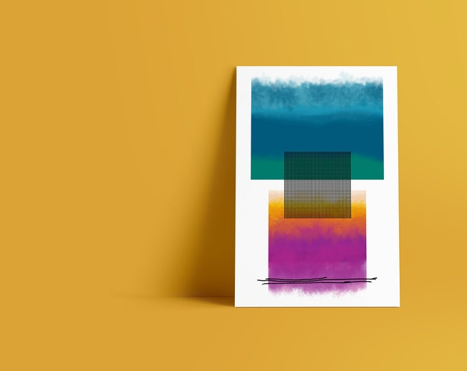 Dots I: Abstract Minimalist Art Print available in multiple sizes