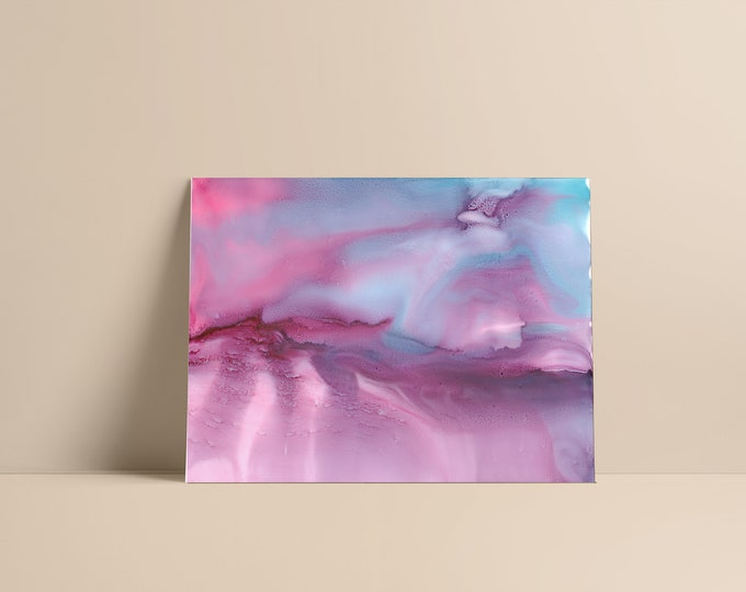 Aonani Fine Art Print in tones of pink, magenta, turquoise, blue, violet, purple, lavender