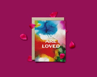 You Are Loved Set of 7 Greeting Cards with envelopes