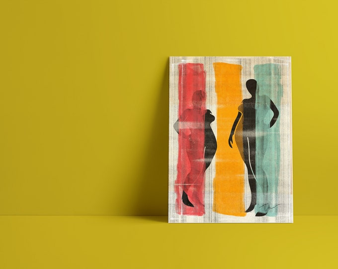 New Model: Abstract Minimalist Art Print