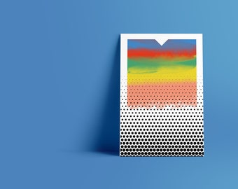 Dots IV: Abstract Minimalist Art Print available in multiple sizes
