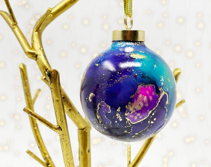 """Featured listing image: Hand Painted 2.5"""" Porcelain Christmas Ornament in your choice of color"""