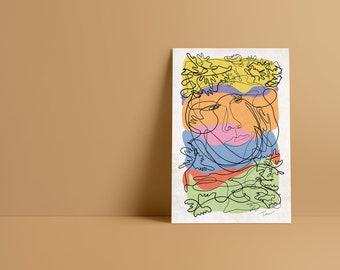 Field Modern Abstract Art Print