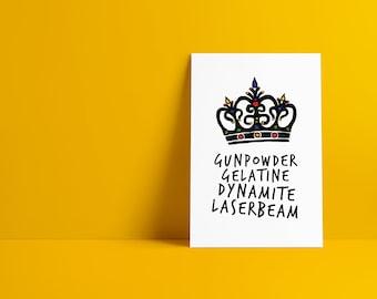 Killer Queen Minimalist Pop Culture Art Print