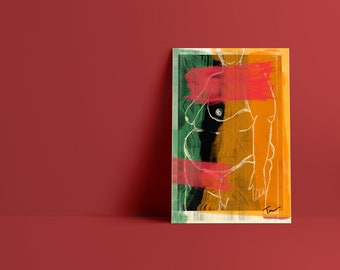 Mother: Abstract Minimalist Art Print available in multiple sizes