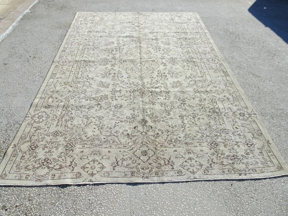 oushak rug611x102 feet 212x310 cm vintage home etsy. Black Bedroom Furniture Sets. Home Design Ideas