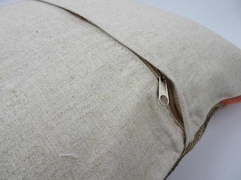 Kilim Pillow,Bohemian Pillow,Handmade Pillow,Flat Weave Rug Pillow,Kilim Cushion Cover,Decorative Pillows,Vintage Rug Pillow,16x16 inch.