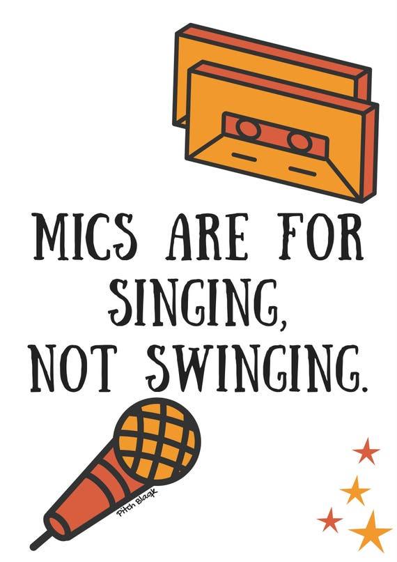 Mics not singing swinging