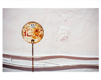 Fine art print 'Smiling signs' with white border on UV photo paper (70x50cm)