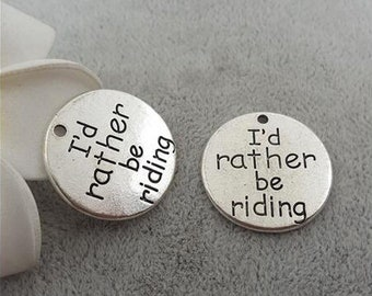 20 pcsLot 10*35mm Antique Silver Colour Letter Printed Drive safe handsome I love you charm round disc message charms Jewelry Findings