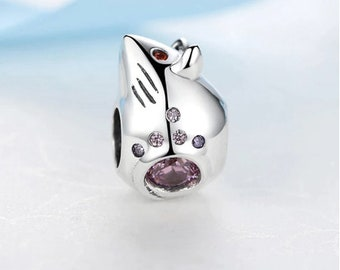 100/% Authentic 925 Sterling Silver Cute Mouse Rat Bead Charms Fit Bracelets Necklaces Jewelry