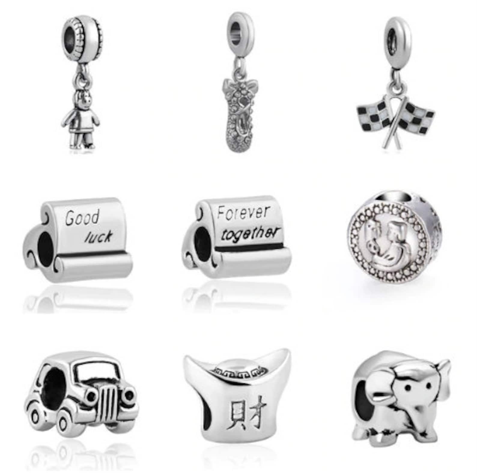 european silver girl ballet shoe flag good luck forever together car silber pendant beads fit original pandora charm bracelet je