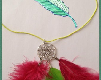 "necklace ""dream catcher feathers"""