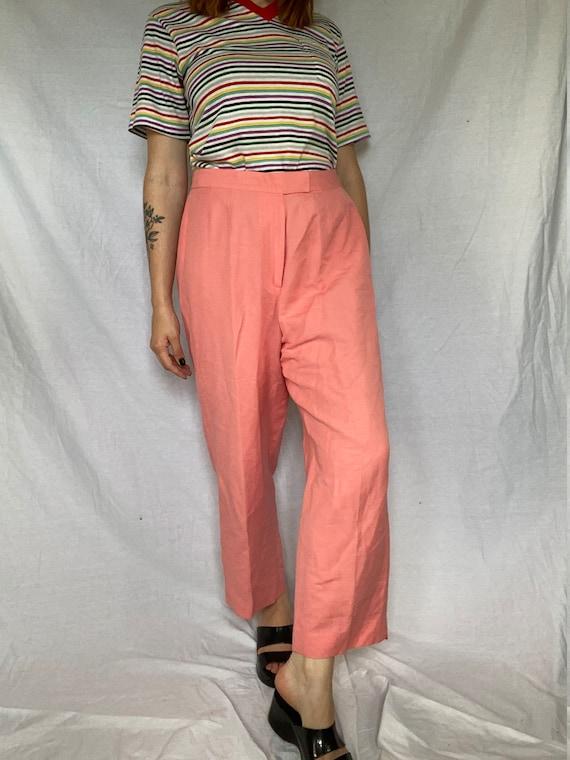 80's 32 w Millennial Pink Ultra High Waist Tapered