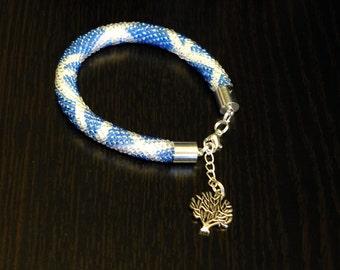 Saltaire - bead crochet bracelet. Free delivery.
