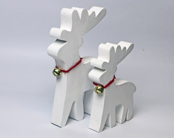 Wooden Reindeer handmade from Salvaged Wood (set of two)
