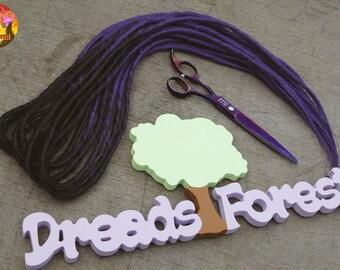 purple dreads etsy
