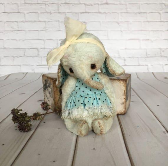 Künstler Teddy Elefant OOAK Teddy Elefant Spielzeug Plüsch | Etsy