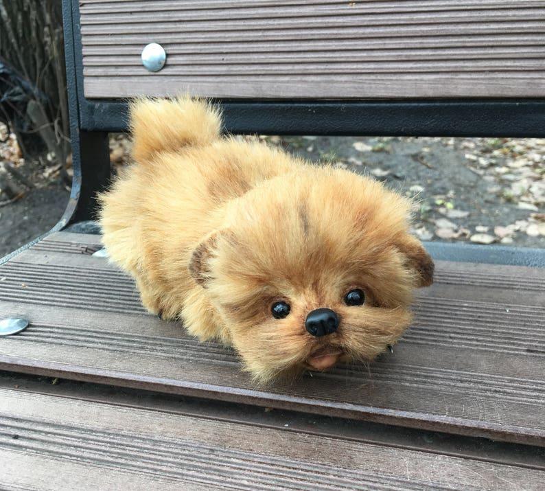 Puppy Spitz Teddy Dog Teddy Toy Little Spitz Etsy