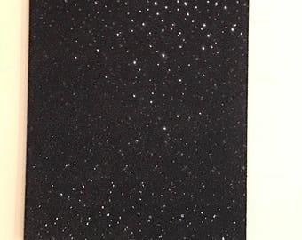 Black sequins wall art