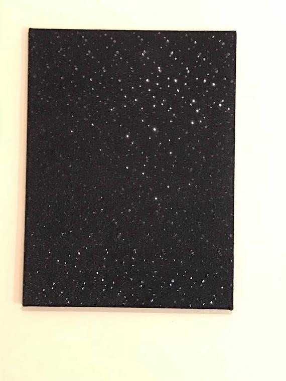 Black sequins wall art | Etsy