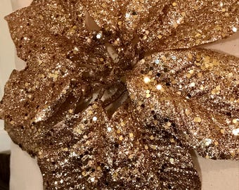 Gold sequins poinsettia decorative pillows Christmas throw pillows