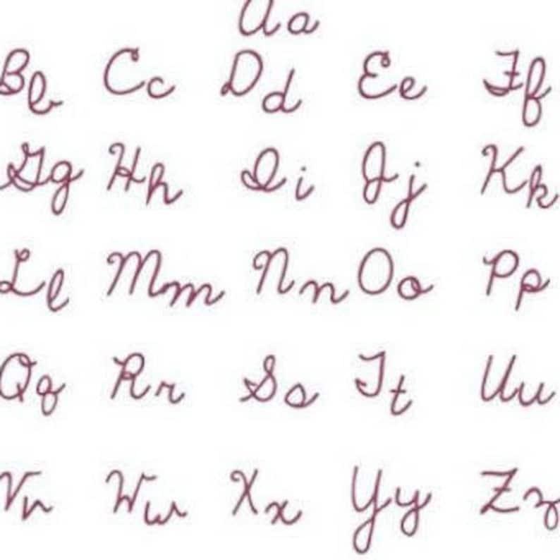 Cursive Script Font Titles Not Exempt Machine Embroidery Font Set Instant  Digital download