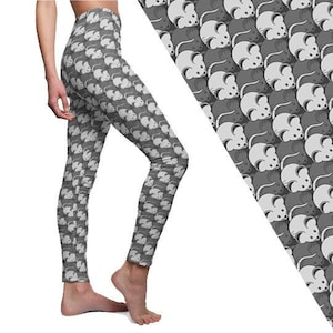 Cute Mouse Rats Animal Pattern Alternative Printed Leggings Pet Mice Women/'s Gift Cut /& Sew Casual Yoga Leggings