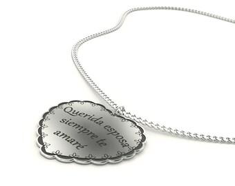2d67dd5fd99a Collar corazón Dije de Corazón de plata te Amo un Buen Regalo Aniversario  para mi Esposa Regalo para ella de Navidad