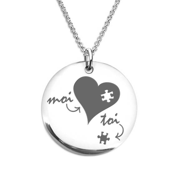 collier d'amour pour homme