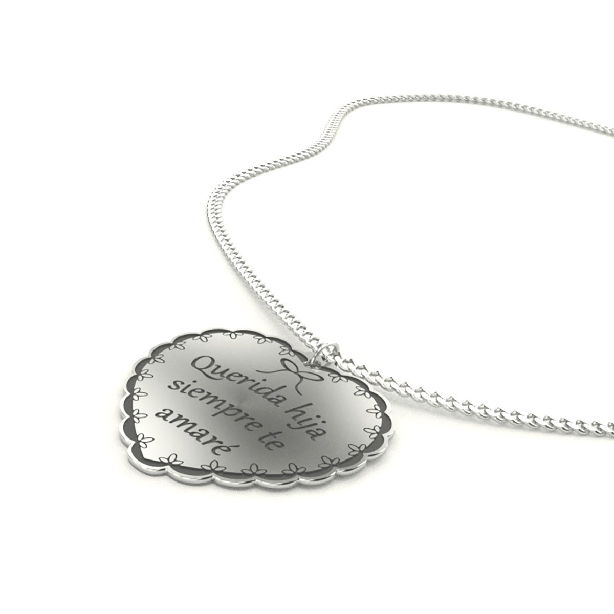 Collar corazon de plata regalo para mi hija Quinceanera  e3adc33ed99