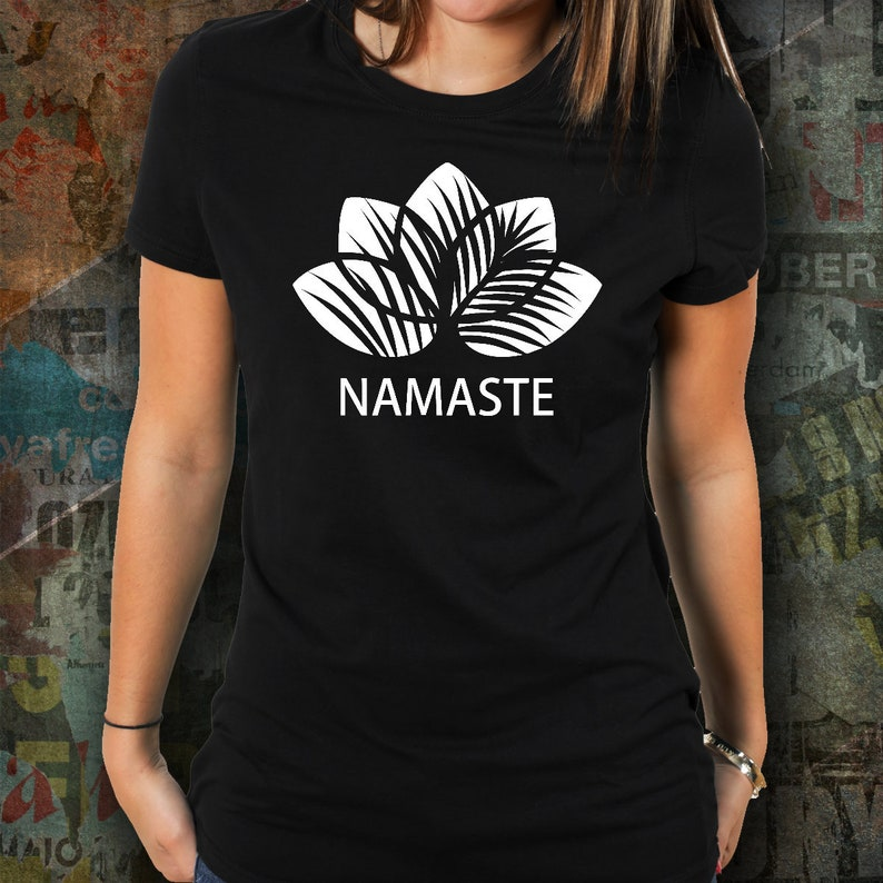 1a92156f2e Lotus Flower Shirt Namaste Shirt Lotus Tshirt Namaste Yoga Shirt- Namaste  tshirt Yoga Instructor Gift Namaste Gift clothing