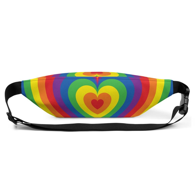 Heart Rainbow All-Over Print LGBT Pride Fanny Pack