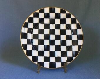 Chequered Black U0026 White Hand Painted Plate