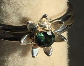 Green Sapphire ring.