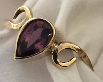 Spinel and gold ring.