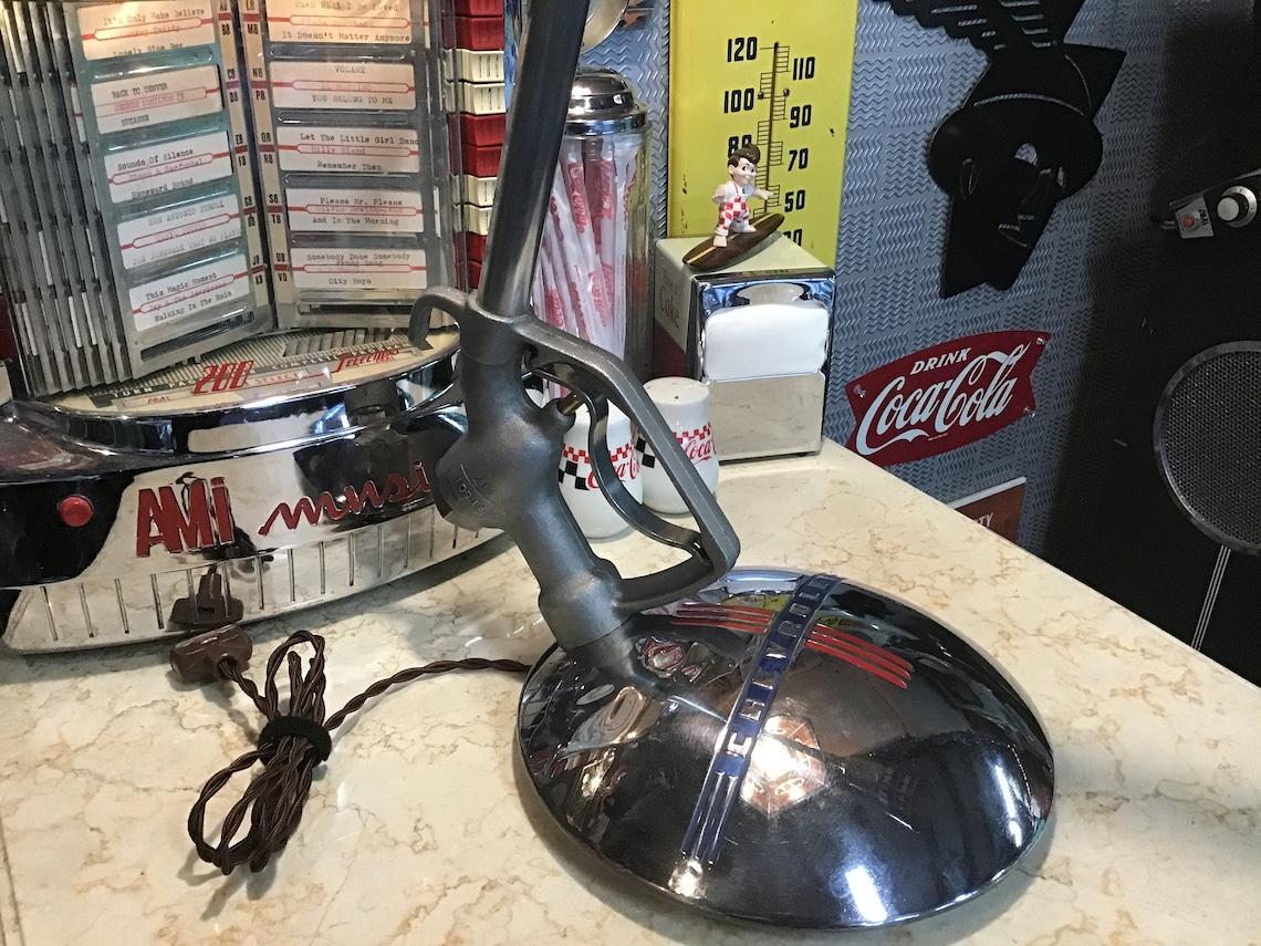 Vintage Chevrolet-Mobile oil re-purposed desk lamp!