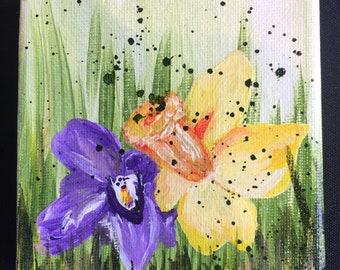 Original picture spring flowers