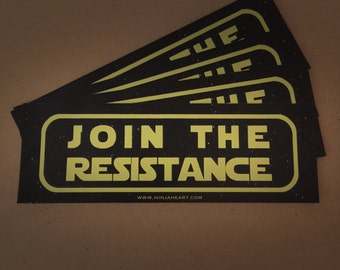 Join the Resistance Magnetic Bumper Sticker