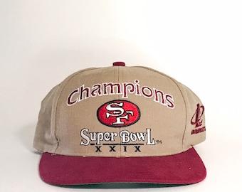 Vintage Super Bowl XXIX Champions 49ers Hat c5563b859f