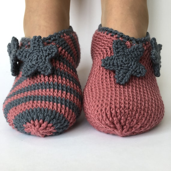 Crocheted Slippers - PDF Pattern