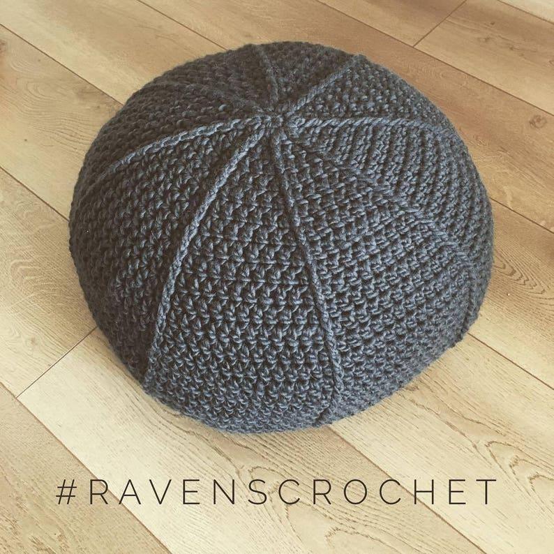 Crocheted PoufPDF PATTERN image 0