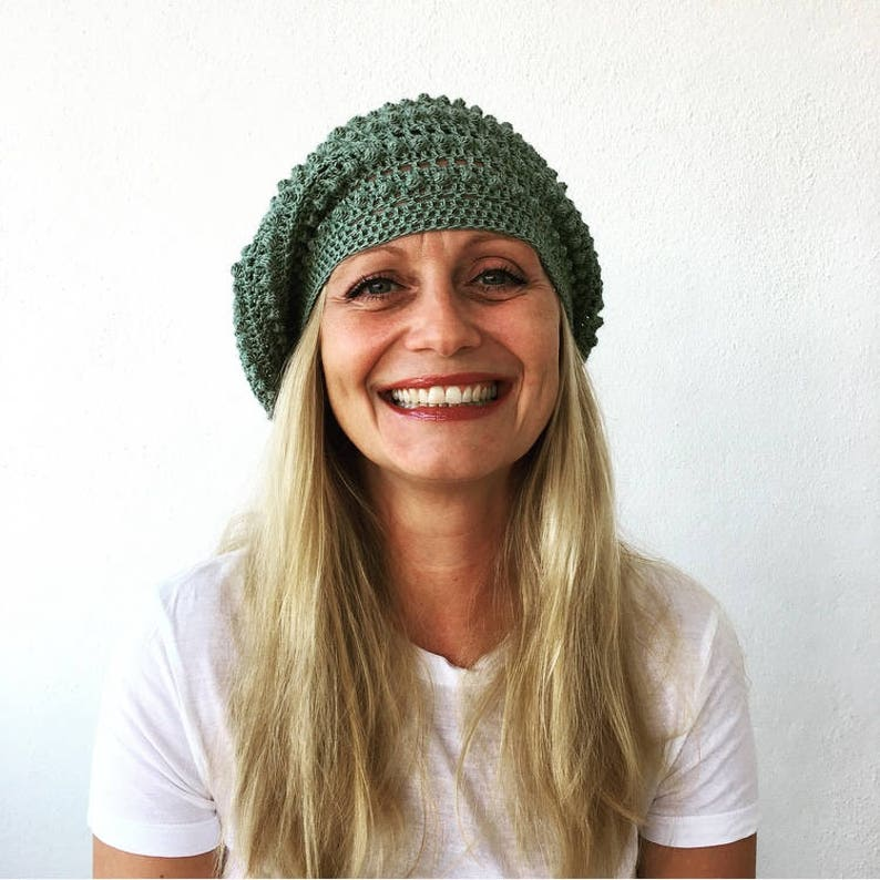Crochet Slouchy HatPDF PATTERN image 0